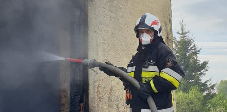Pożar budynku mieszkalnego w miejscowości Główka