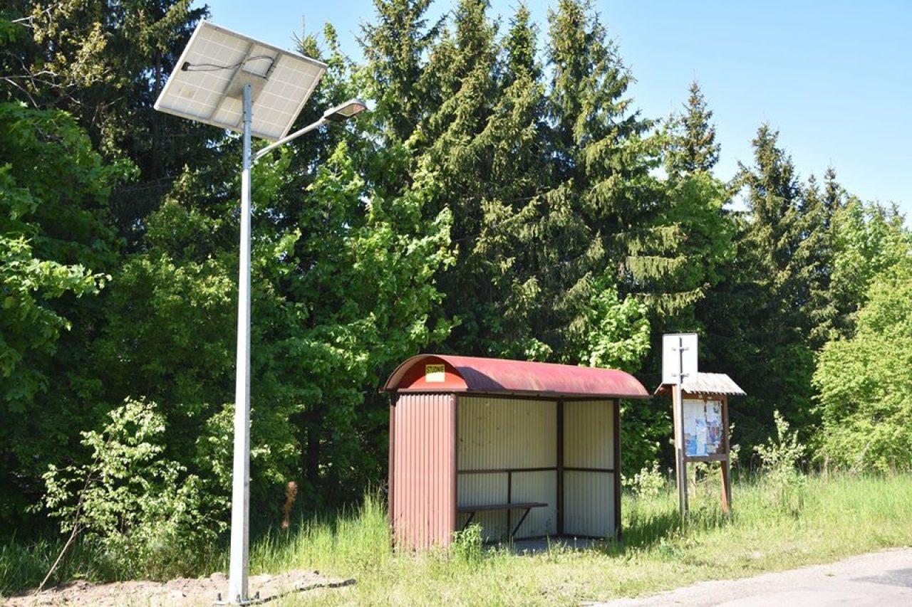 Oświetlenie solarne w Gminie Gołdap