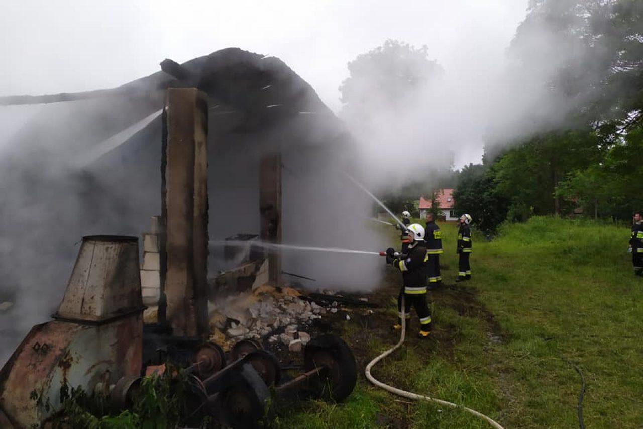 Kierzki – spłonęła stodoła