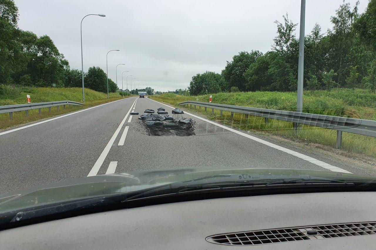 Uważaj kierowco jadąc obwodnicą w Gołdapi!