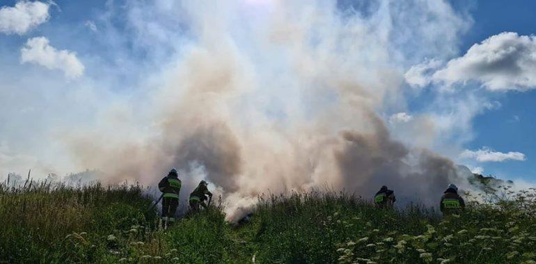 Pożar w miejscowości Borkowiny
