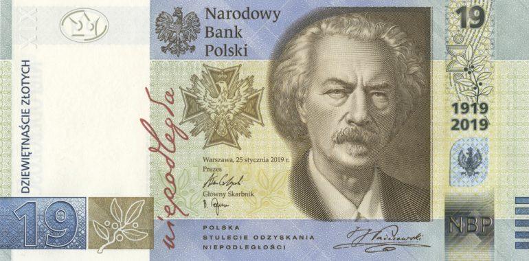 Do obiegu wejdzie banknot o nominale 19 złotych.
