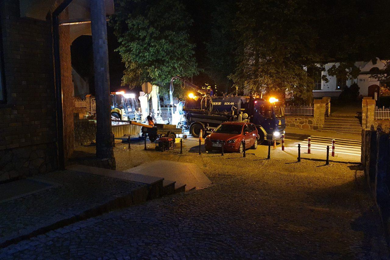 Nocne prace konserwacyjne – wymiana zasuw w obrębie ulicy Żeromskiego