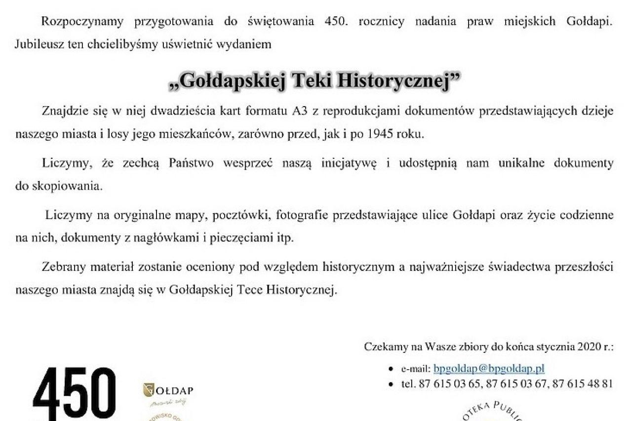 450 lat Gołdapi
