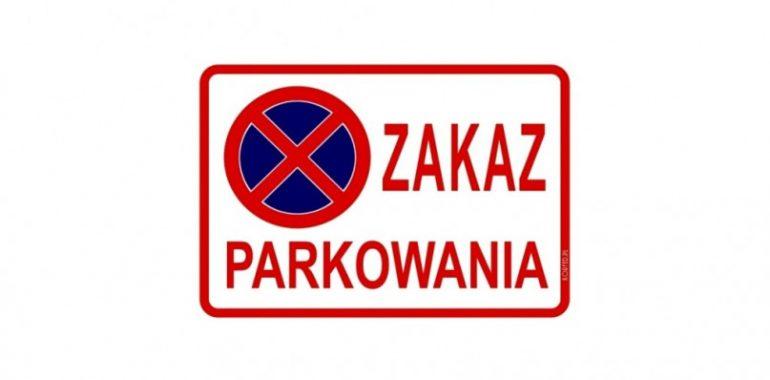 Wystawił zakaz parkowania dla policjantów drogówki.