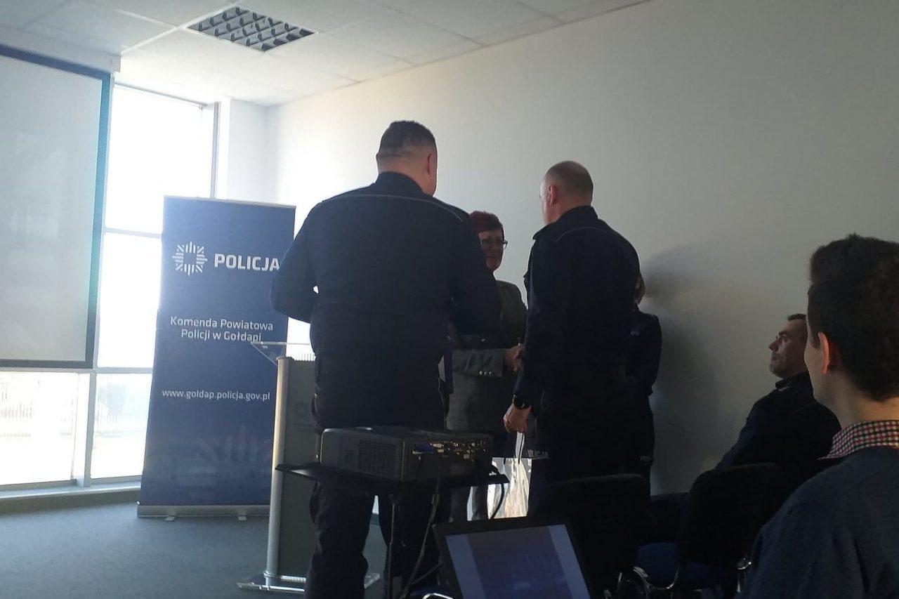 Podsumowanie rocznej pracy Komendy Powiatowej Policji w Gołdapi