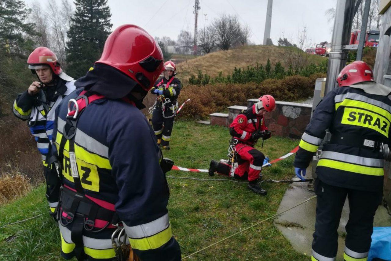 Inspekcja gotowości operacyjnej gołdapskich wysokościowców.
