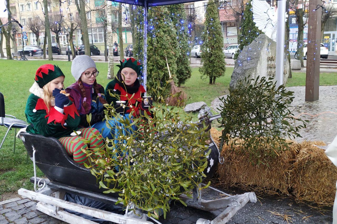 Mikołaj w Parku Miejskim
