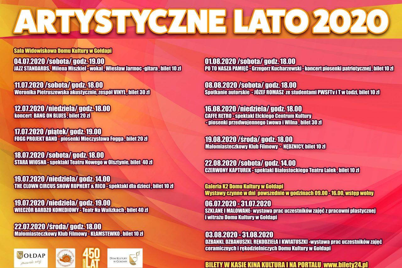 ARTYSTYCZNE LATO 2020