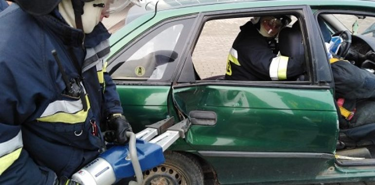 Ćwiczenie plutonu ratowniczego OSP Warmińsko–Mazurskiej Brygady Odwodowej powiatu gołdapskiego