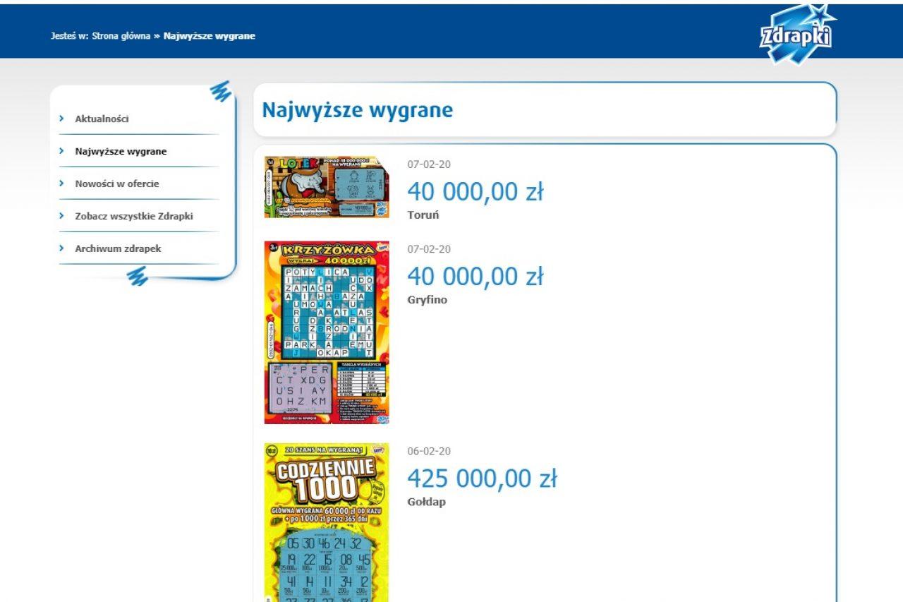 Gołdapianin wygrał 425 000 zł w zdrapce?!