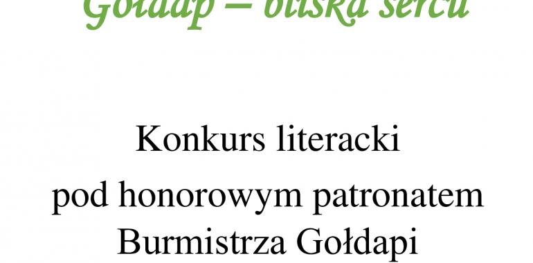 Konkurs Literacki: Gołdap – bliska sercu